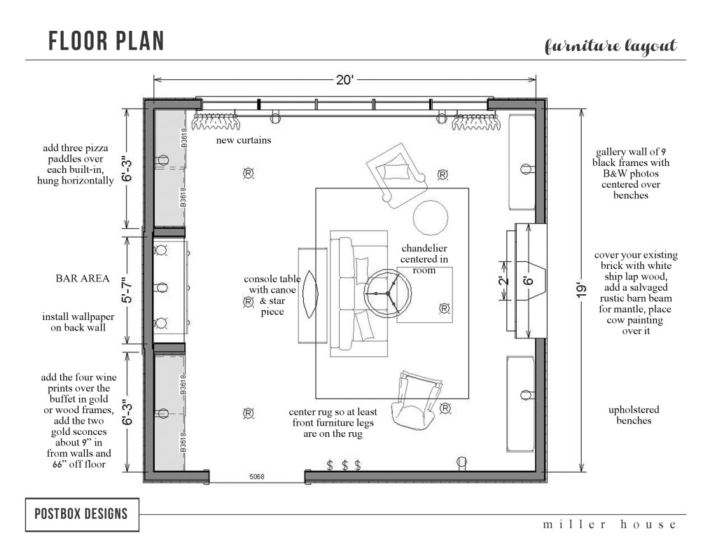 Living Room Floor Plans: Real Postbox Projects