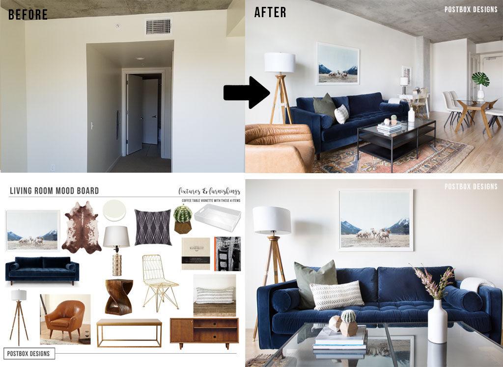 Postbox designs online interior design services e design - Design living room online ...