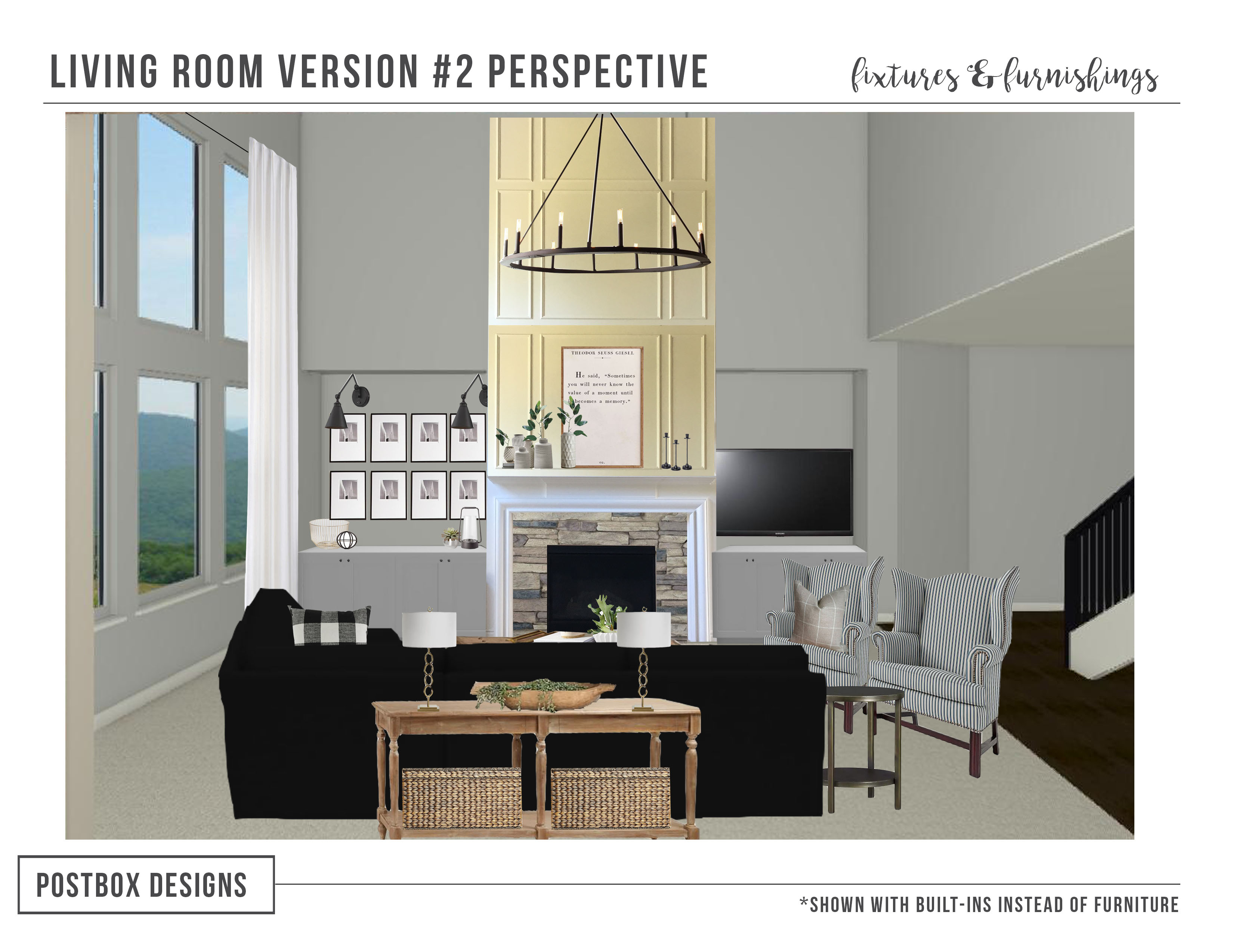 Modern farmhouse family room makeover how to design with for Room 11 design