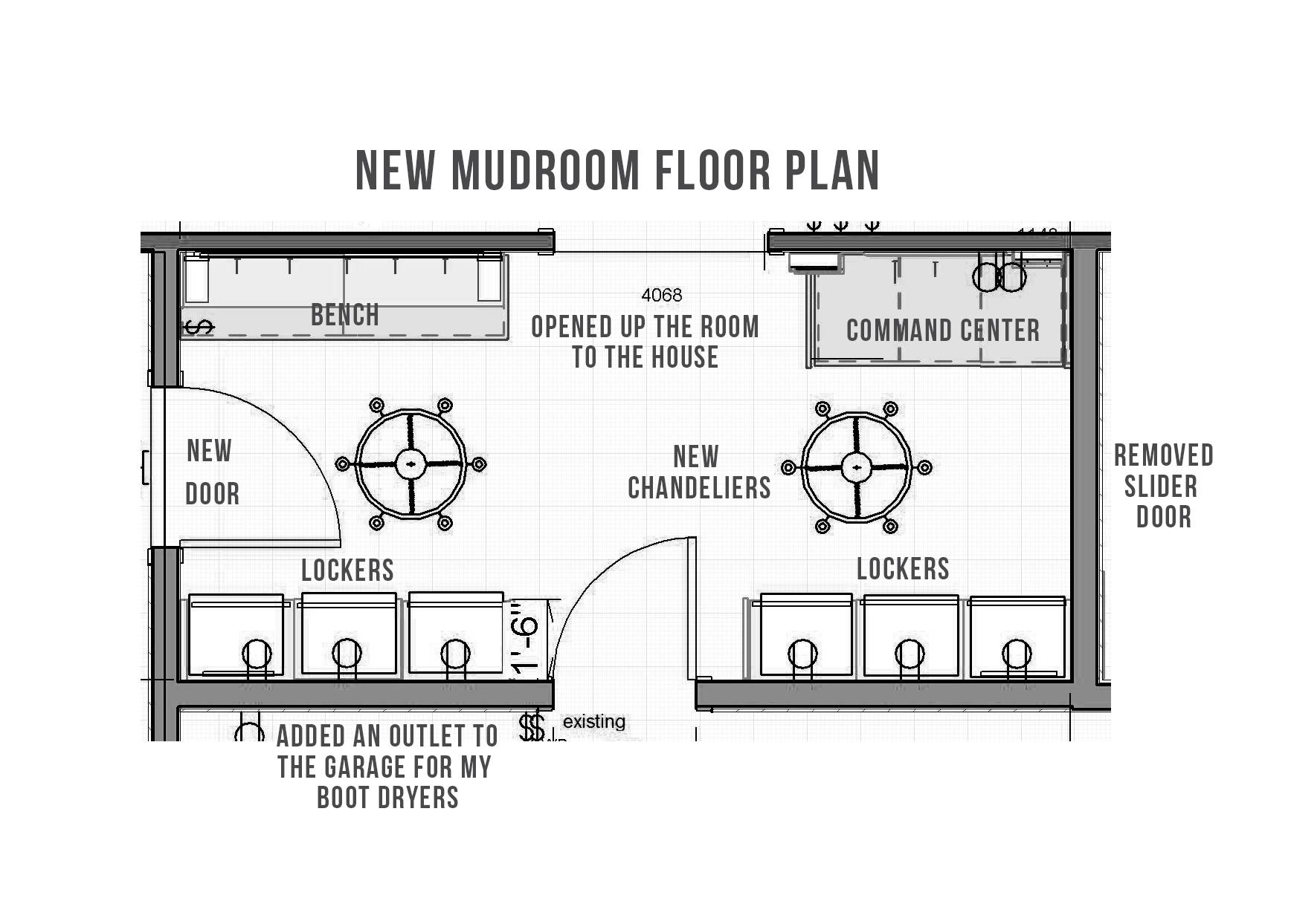 Mudroom Floor Plan Postbox Designs