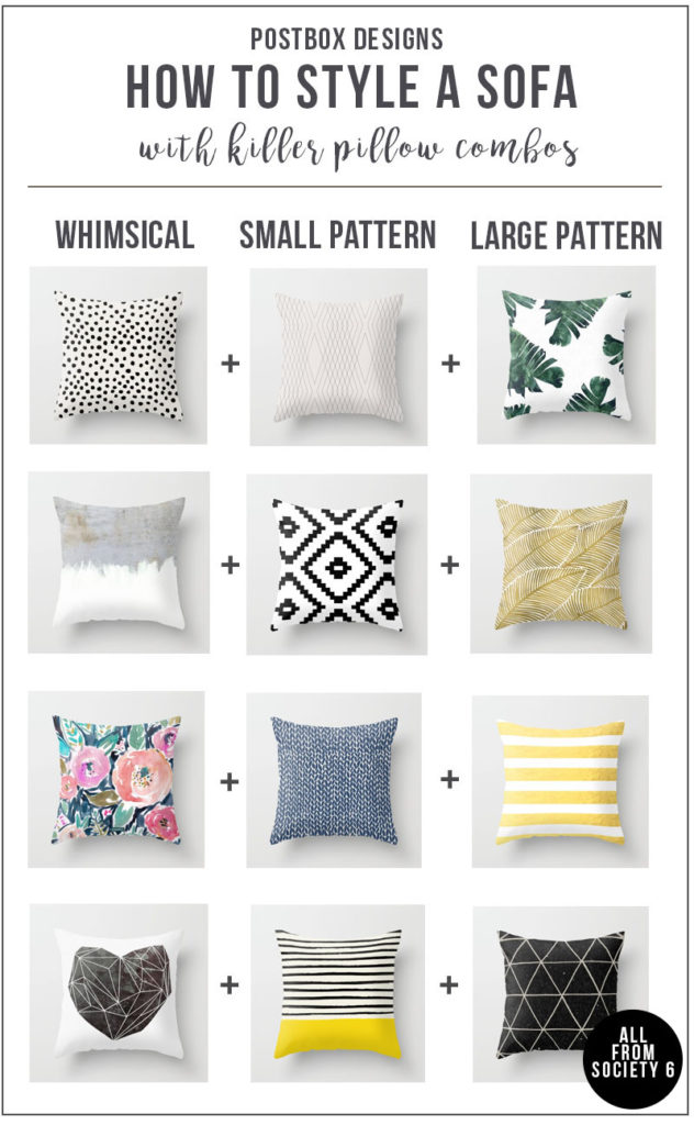 One Room Challenge Week 2 How To Style A Sofa Pillow Combos Cheat Sheet Postbox Designs