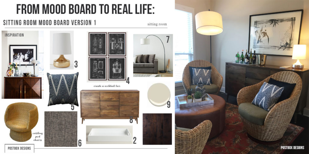 Boho Chic Room Reveal! : Living Room + Home Bar - Postbox ...