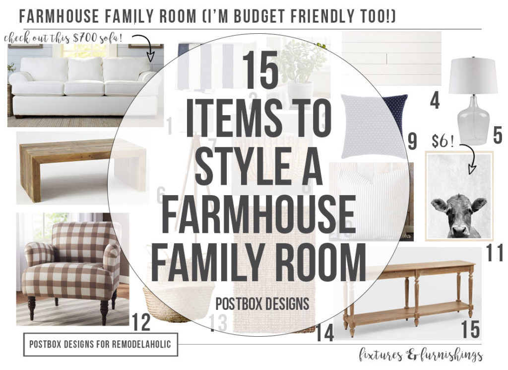 15 Items to Style a Farmhouse Family Room...On a Budget ...