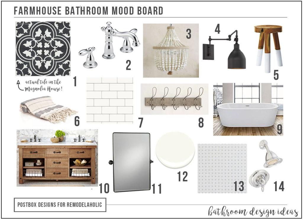 Create A Timeless Farmhouse Bathroom Makeover Free Mood Board Postbox Designs