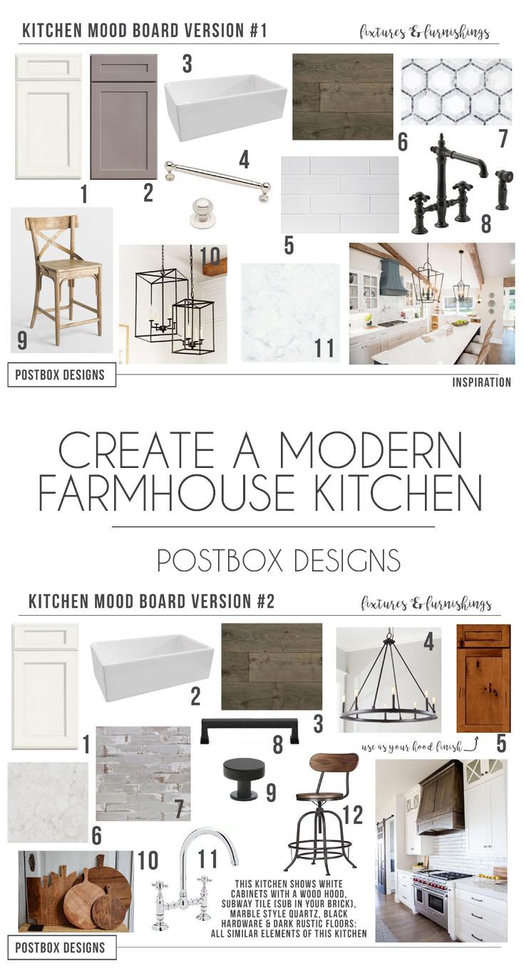 Farmhouse Kitchen 4 Mood Boards To Create Your Dream Kitchen Postbox Designs