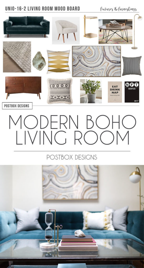 Modern Boho Living Room On a Budget: Room Makeover Reveal ...