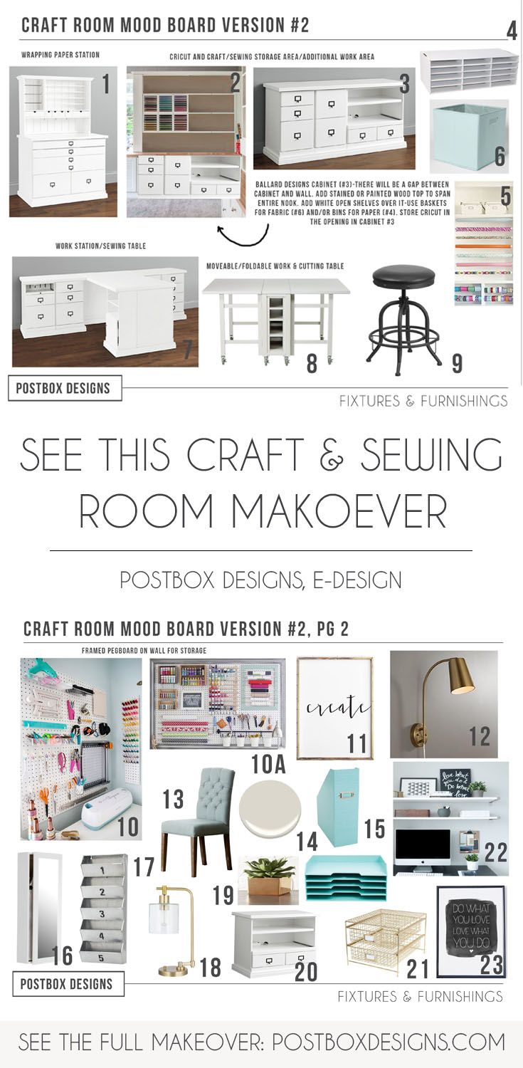 10x10 Room Layout Craft: Copy This Craft & Sewing Room Makeover!