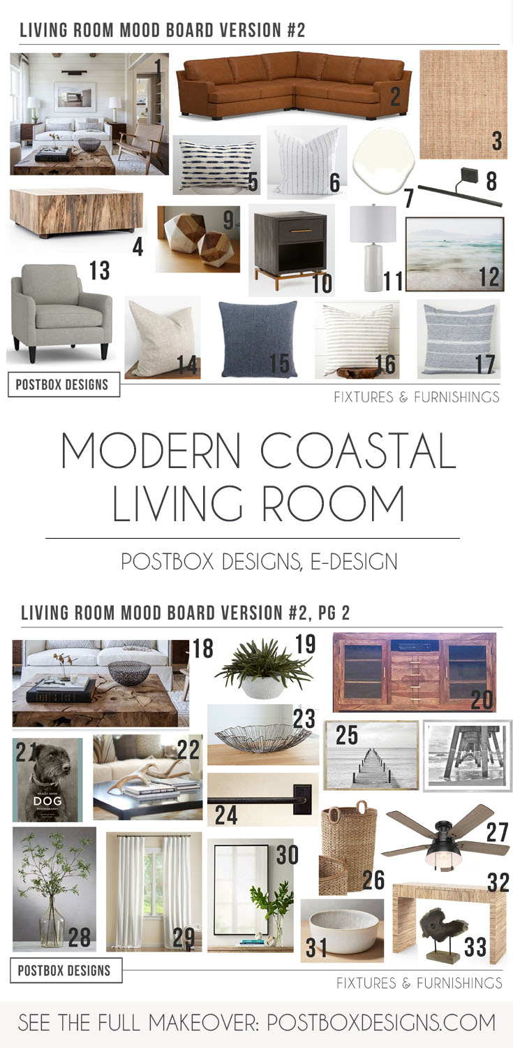 Modern Coastal Living Room Makeover By Postbox Designs