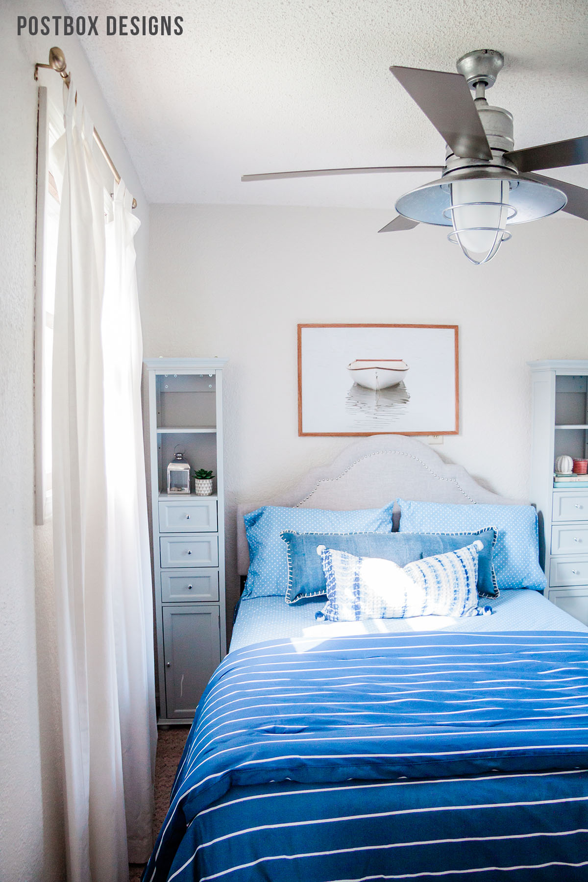 Peek Into My Own Lake House Bedroom Makeover! - Postbox Designs